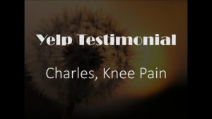 Charles yelp Testimonial for Pain Relief