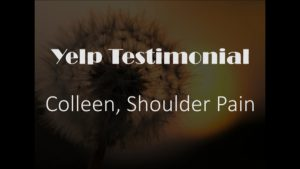 Colleen yelp Shoulder Testimonial for Pain Relief