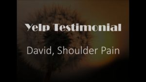 David yelp Testimonial for CRPS Shoulder Pain Relief