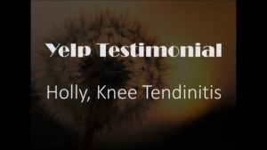 Holly yelp Knee Testimonial for Pain Relief
