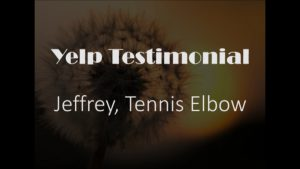 Jeffrey yelp Testimonial for Pain Relief