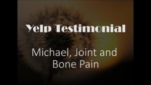 Michael yelp Testimonial for Pain Relief