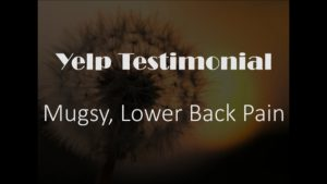 Mugsy yelp Testimonial for Pain Relief