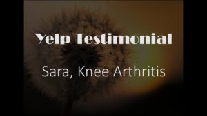 Sara yelp knee arthritis Testimonial for Pain Relief